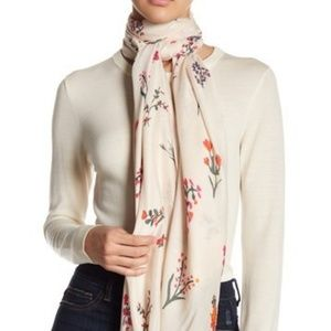 Rebecca Minkoff Pressed Flower Oblong Scarf